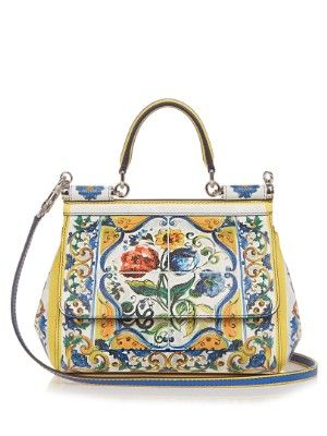 d8ff74ceebcb Sicily Majolica-print small leather cross-body bag