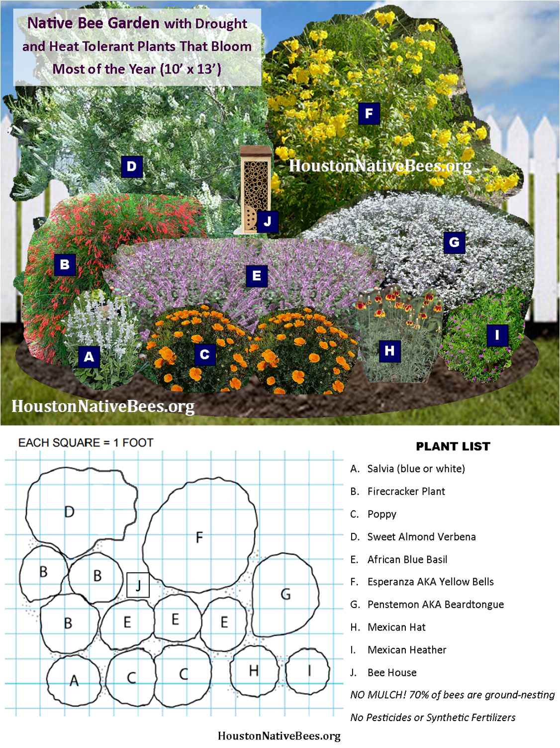 Image Result For Houston Native Landscaping Bee Garden Design Pollinator Garden Design Bee Garden