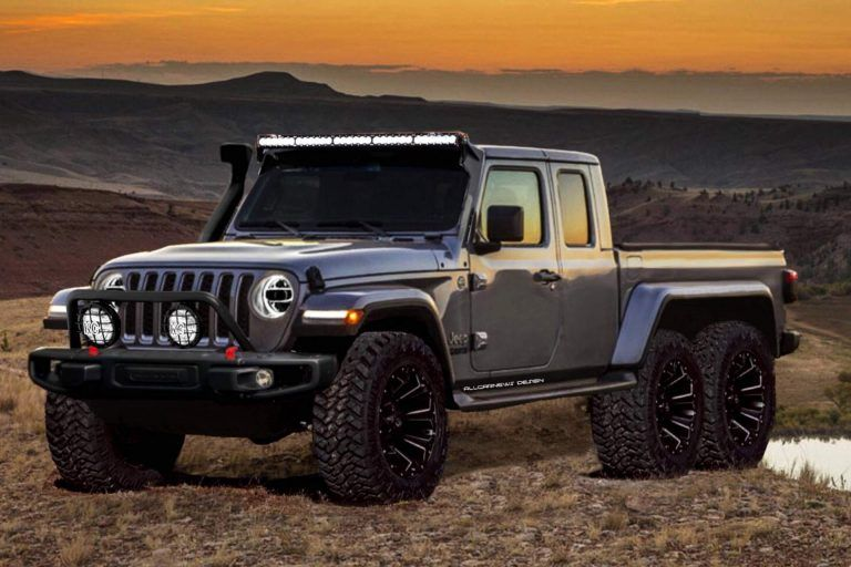 2020 Jeep Gladiator Gains Hypothetical 6x6 Variant Carscoops Jeep Gladiator Jeep Jeep Suv