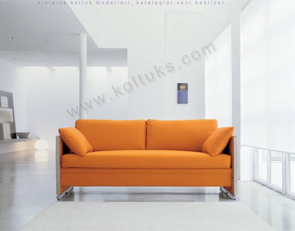 Turuncu Renk Cift Kisilik Koltuk Takimi Mobilya Tasarimi Kucuk Yatak Odalari Yatak Kanepe