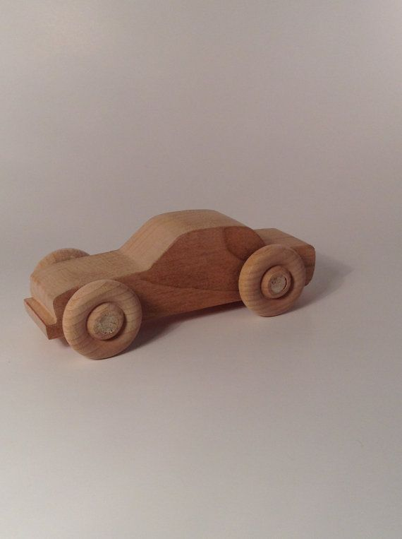 Here is a cherry wood car toy I hand made on a scroll saw. It is all natural with no chemicals added to it. It is available for sale at: www.etsy.com/shop/itssawgood