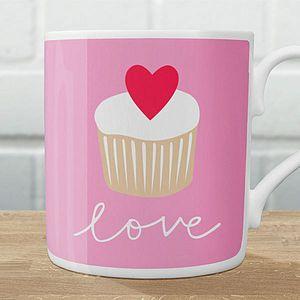 a cupcake coffee mug.. i heart this!