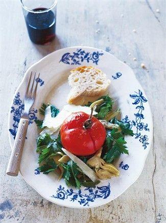 Insalata di pomodori affogati