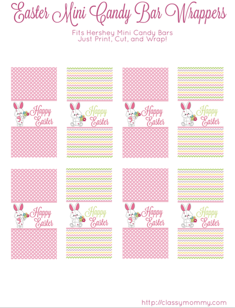 Free Printable Easter Candy Bar Wrappers Classy Mommy Easter Candy Bar Easter Candy Bar Wrappers Easter Candy Crafts