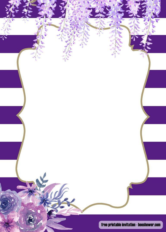 Free Lavender Purple Baby Shower Invitations Design Baby Shower