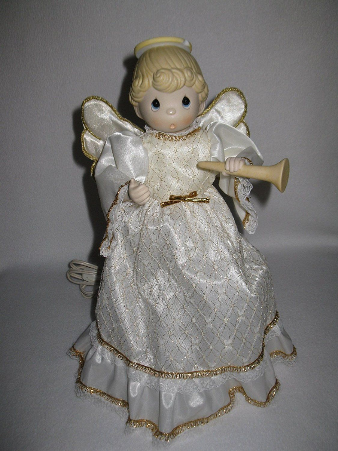 Precious Moments Porcelain Bisque Musical Animated Angel