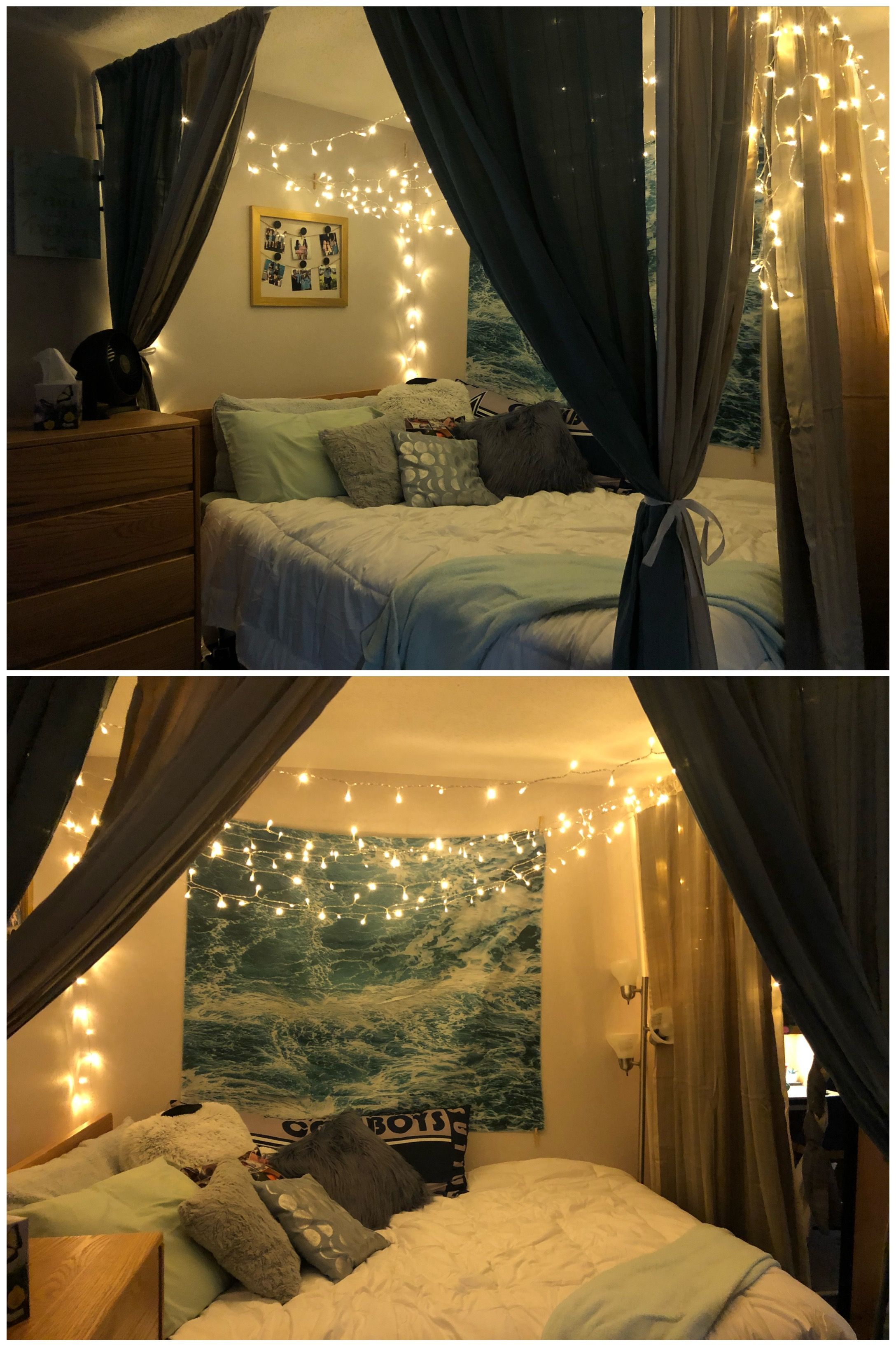 Use Pvc Piping To Hang Curtains Around Bed In Dorm Room Adds Privacy