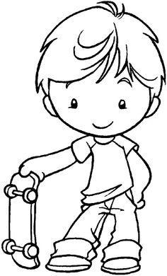 skateboarding coloring page | Coloring pages, Skateboard party ... | 390x236