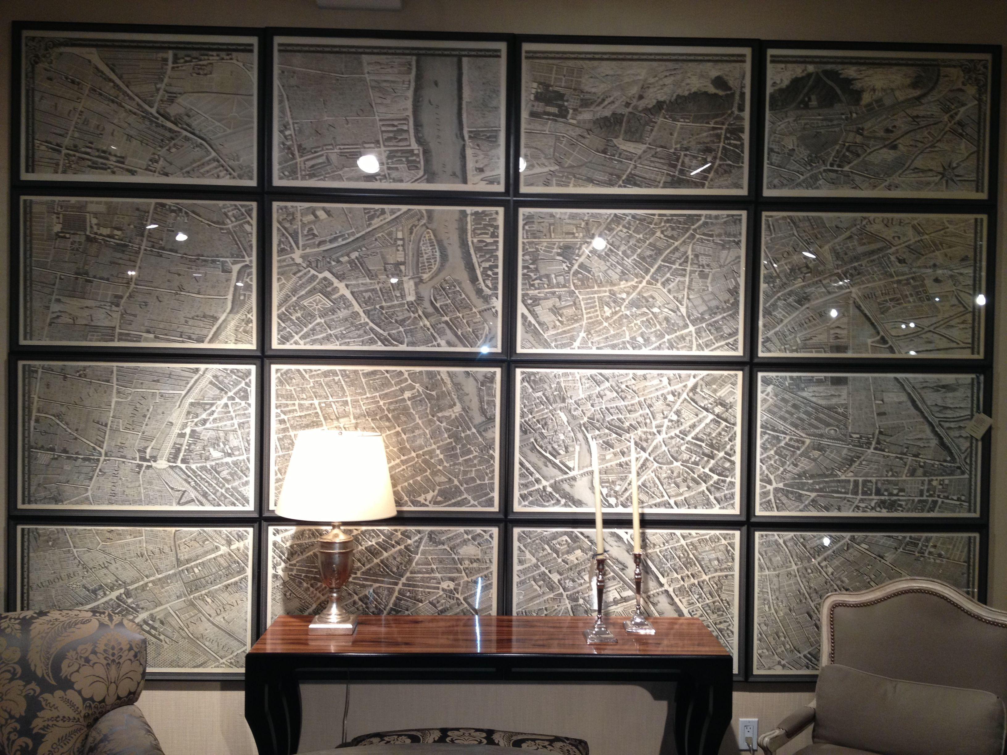 Turgot Map of Paris at NY Design