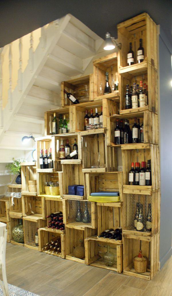 Wooden storage box bookcase decoraci n de interiores - Estanterias con cajas ...