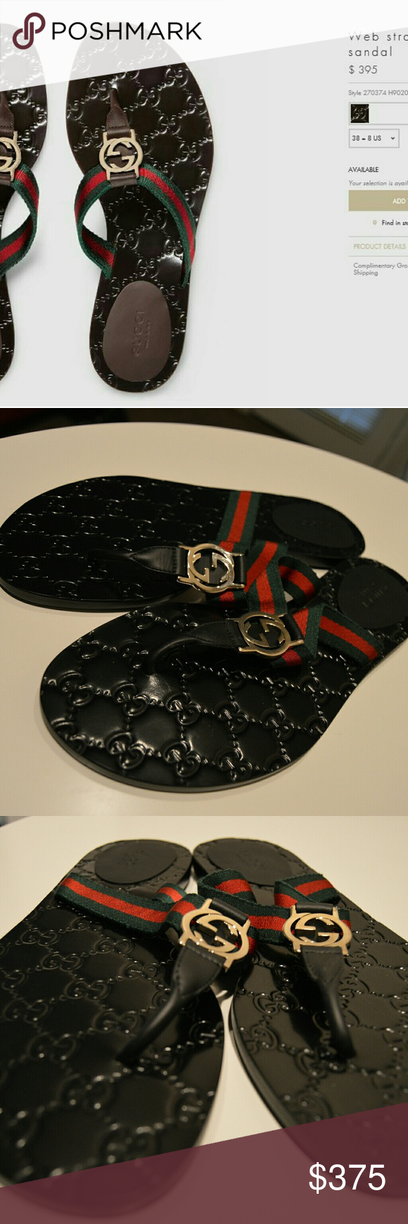 c723bd3db3f7 Gucci web strap thong sandal New never worn Gucci Shoes