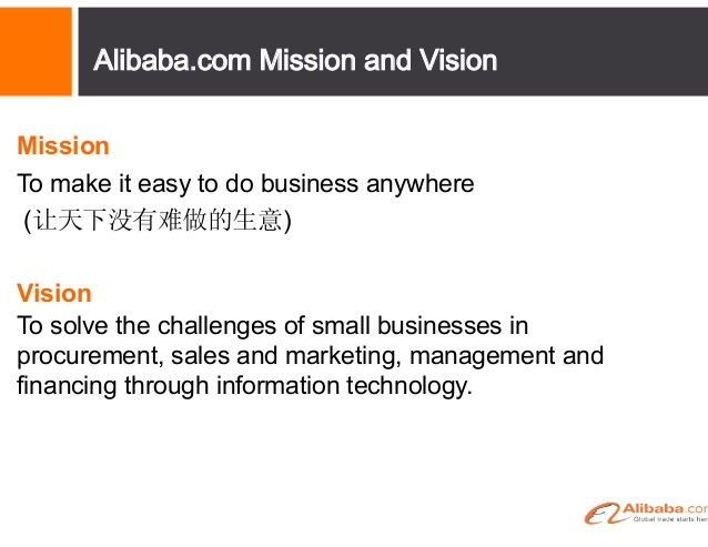 Alibaba Mission And Vision  Ons Praktyk    Mission
