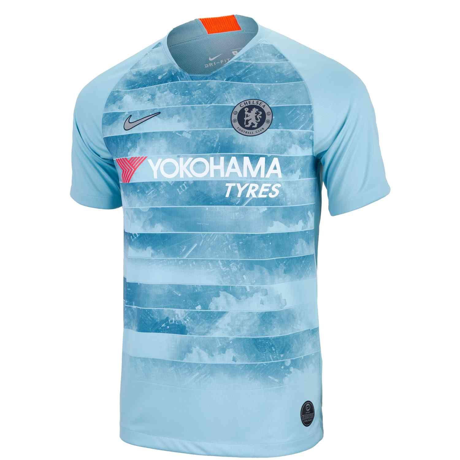 c4504b461f 2018 19 Nike Chelsea FC 3rd Jersey. Available at SoccerPro.