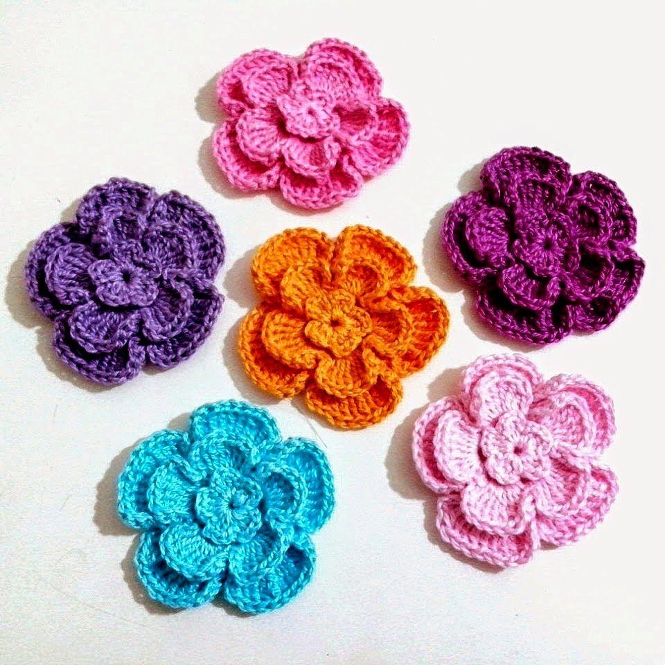 Tecendo Artes em Crochet: Flores | Crochet flowers | Pinterest | Flores