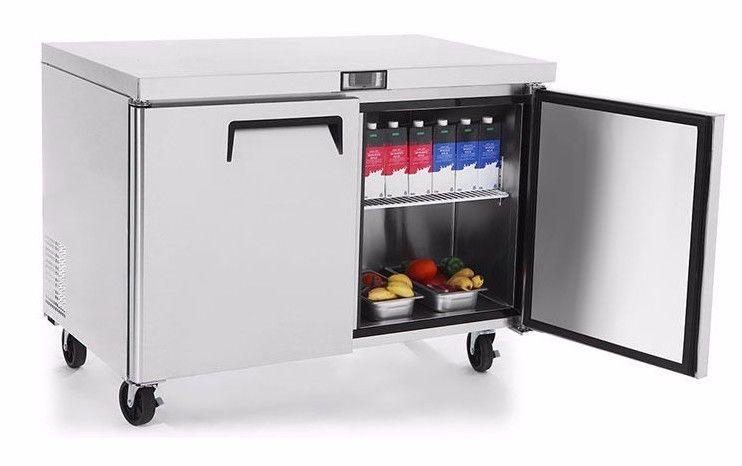 Atosa Mgf8406 Commercial 48 Undercounter 2 Door Freezer Restaurant Equipment Undercounter Freezer Undercounter Refrigerator