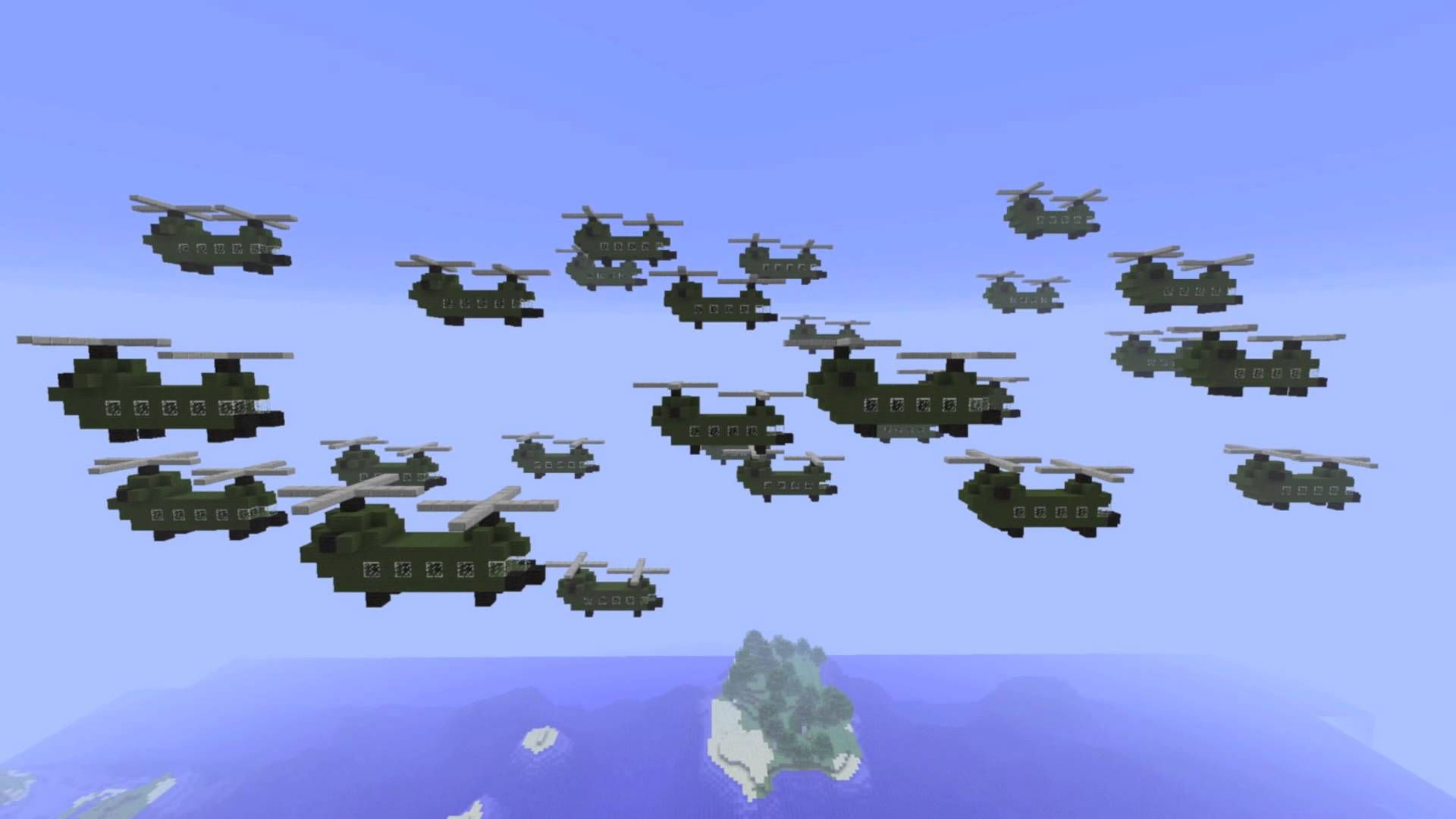 Minecraft - Chinook Helicopter's - YouTube