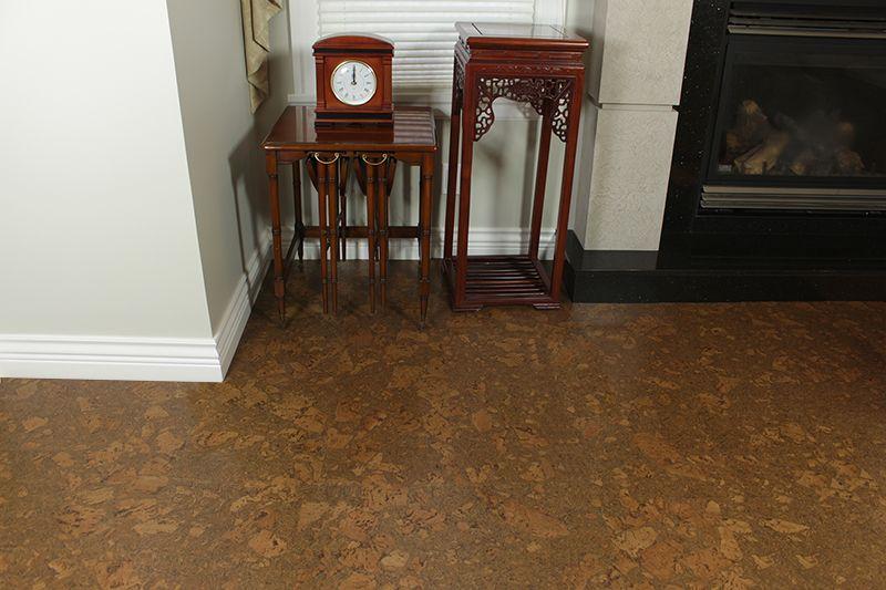 Colored Cork Flooring Tasmanian Burl 6mm Cork Tiles Cork