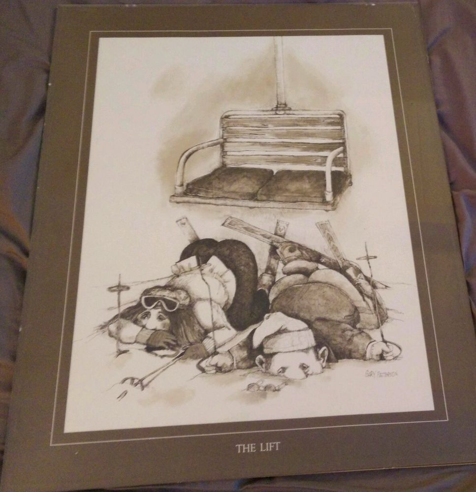 The Lift Gary Patterson Framed Vintage Caricature Print Thought ...