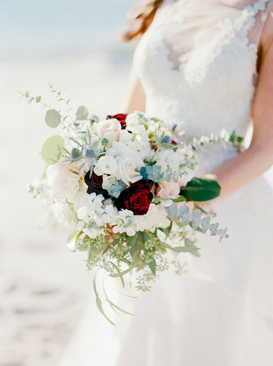 An Autumn Wedding Set By The Sea   Ivory wedding bouquets, Bouquet ...