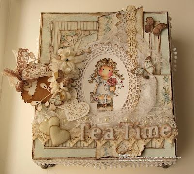 Tilda's Tea Time! Dutch Card making - My sister loves Teatime, butterflies, and Shabby Chic. I think this fits her quit nicely! (Robin)