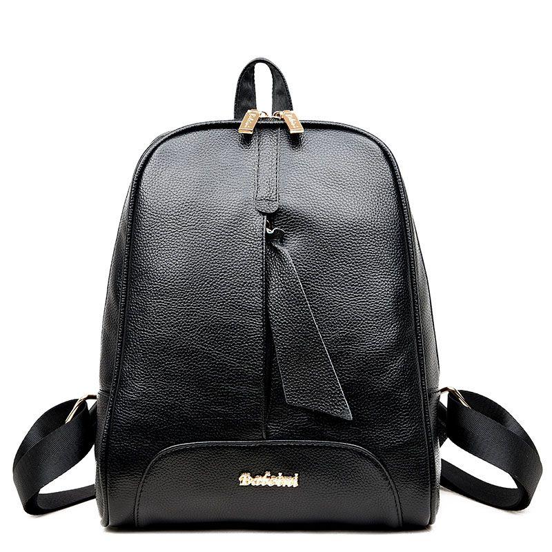 2017 Fashion Simple Women Girls Preppy Rivet Shoulder Bookbags School  Travel Backpack Bag Wholesale Female Backpacks A8 e4b8783269