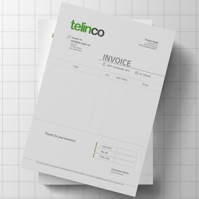 Logo and invoice template by Anjuman logo design Pinterest Logos - invoice logo