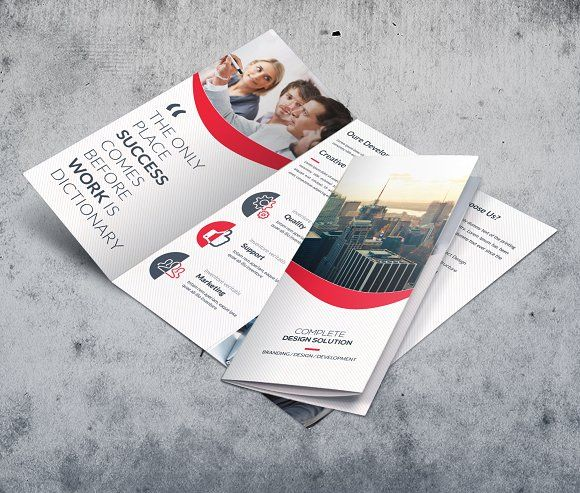 business trifold brochures by creative idea on creativemarket