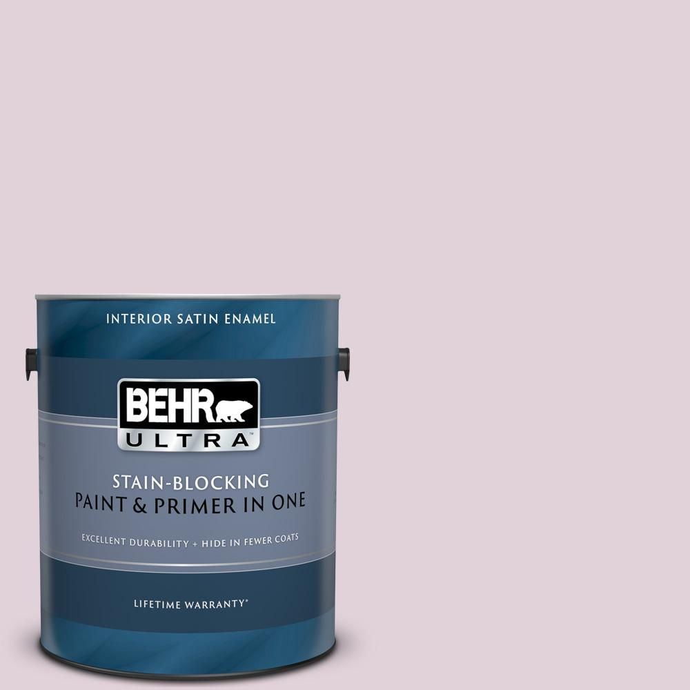 Behr Ultra 1 Gal 690e 2 Heather Rose Satin Enamel Interior Paint And Primer In One Interior Paint Exterior Paint Behr