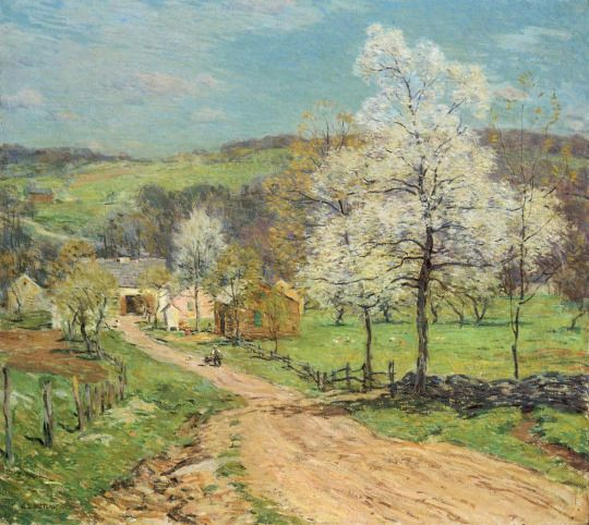 First Blossoms - Willard Leroy Metcalf