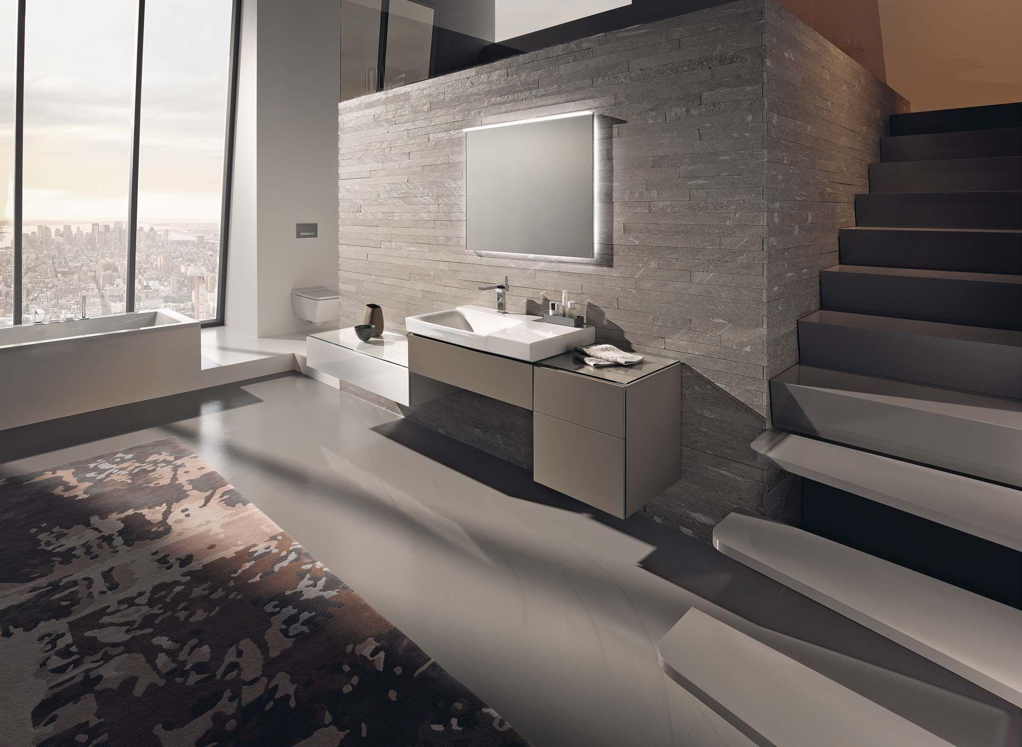 modern badkamermeubel in binatie met de slaapkamer en het