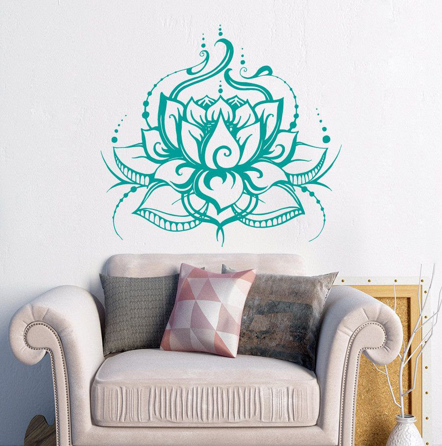 Yoga Lotus Beautiful Wall Stickers Waterproof Home Special Vinyl - Yoga studio wall decals