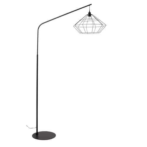 ORIGAMI Metal Floor Lamp In Black H 193cm
