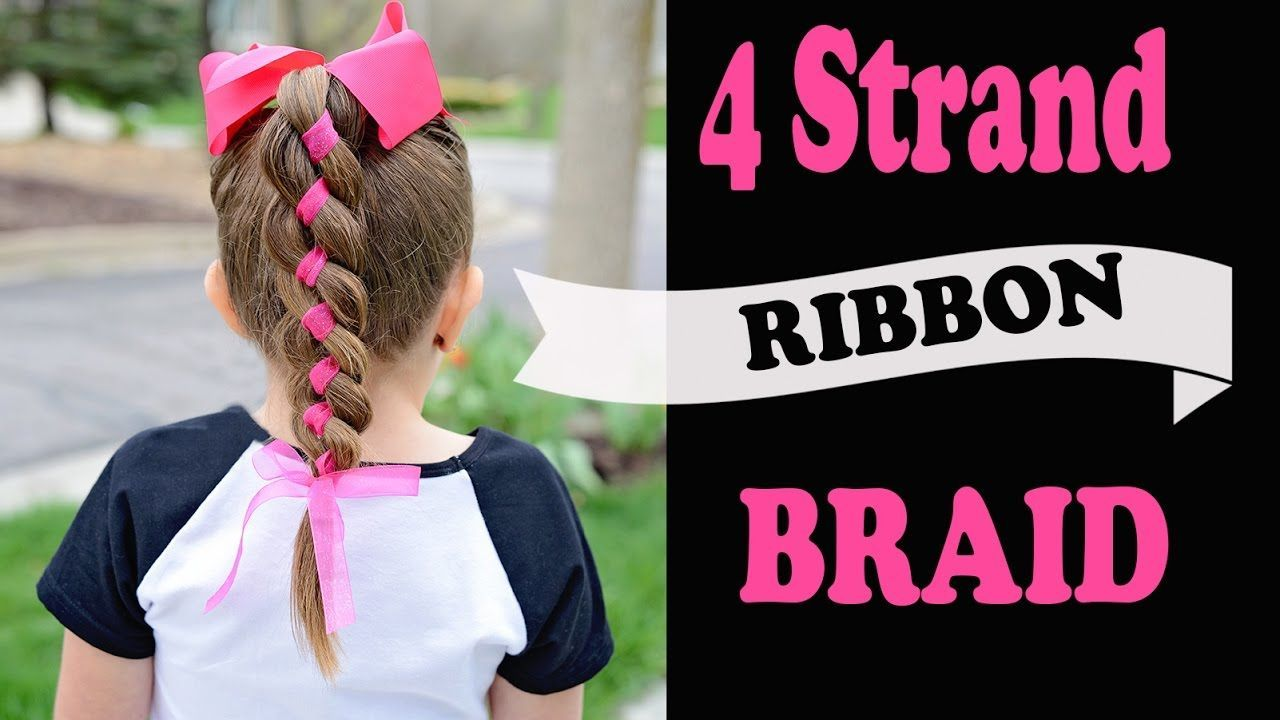 strand ribbon braid simple hairstyles with ribbon fast hair