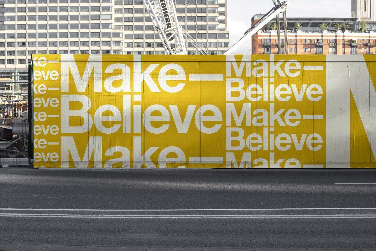 Urban Hoarding Outdoor Mockup Billboard Mockup Hoarding Design Hoarding