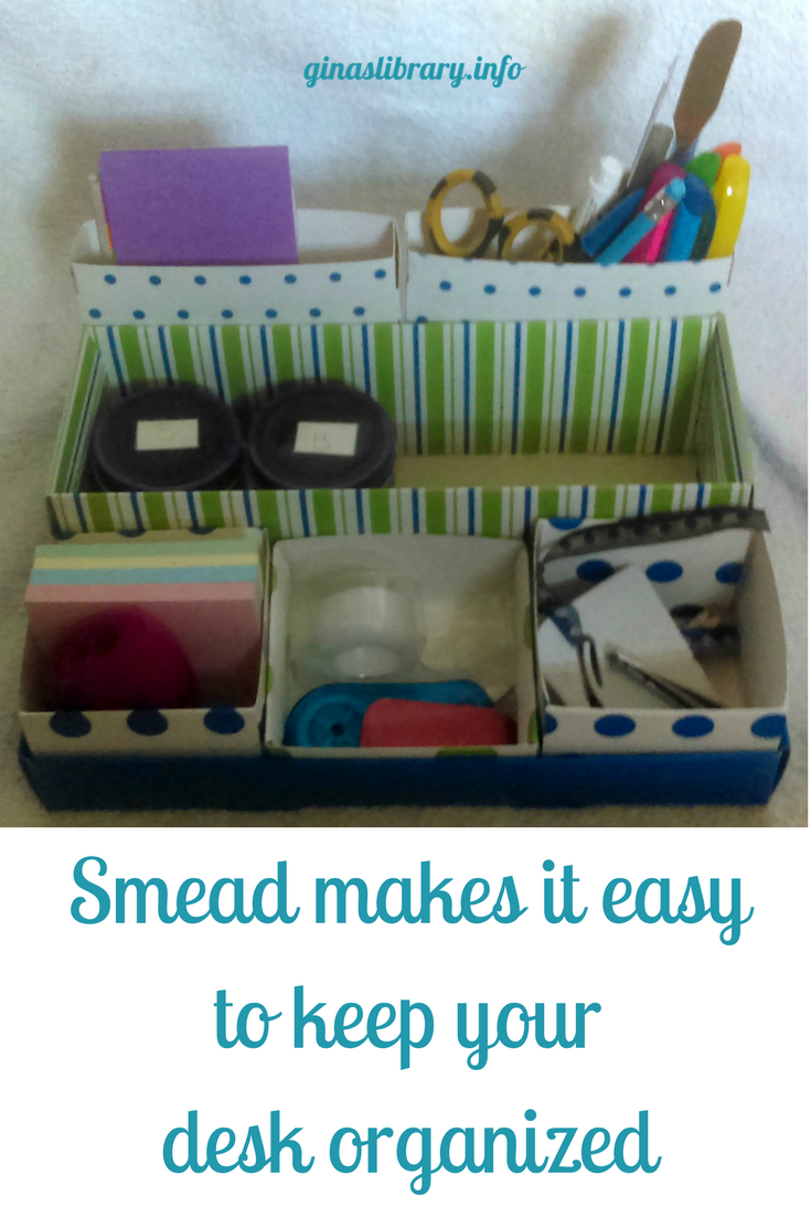 Having an organized desk is important to be the most productive. I love this Smead desktop organizing set.