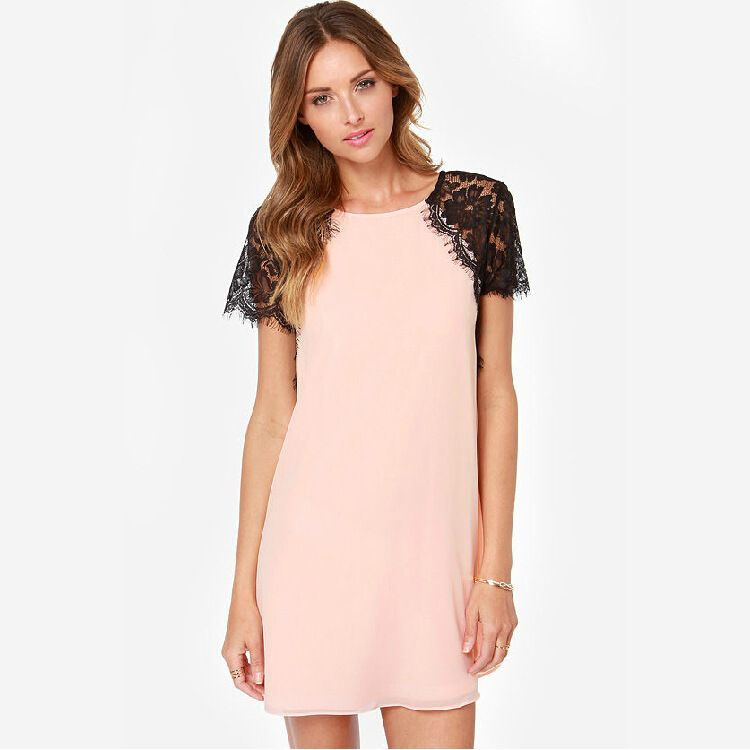 Lace Dress White Chiffon Beach Party – Fashion dresses