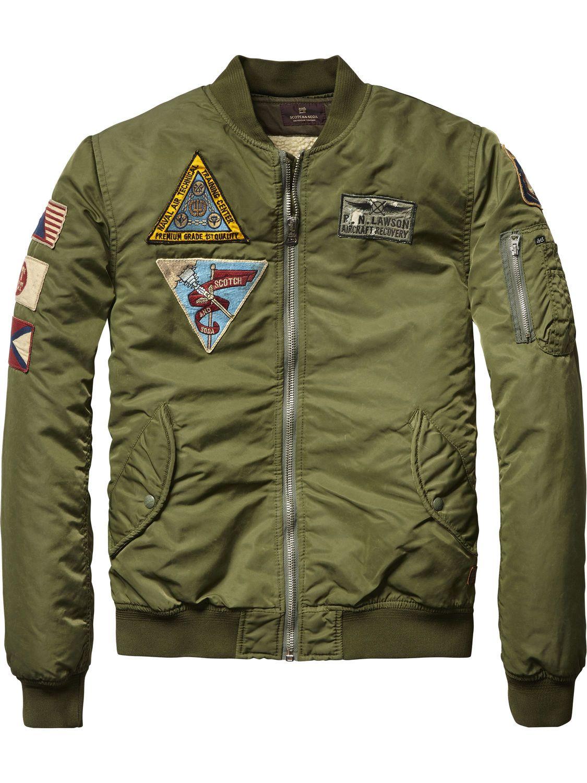 82498b68d4f Badge Bomber Jacket