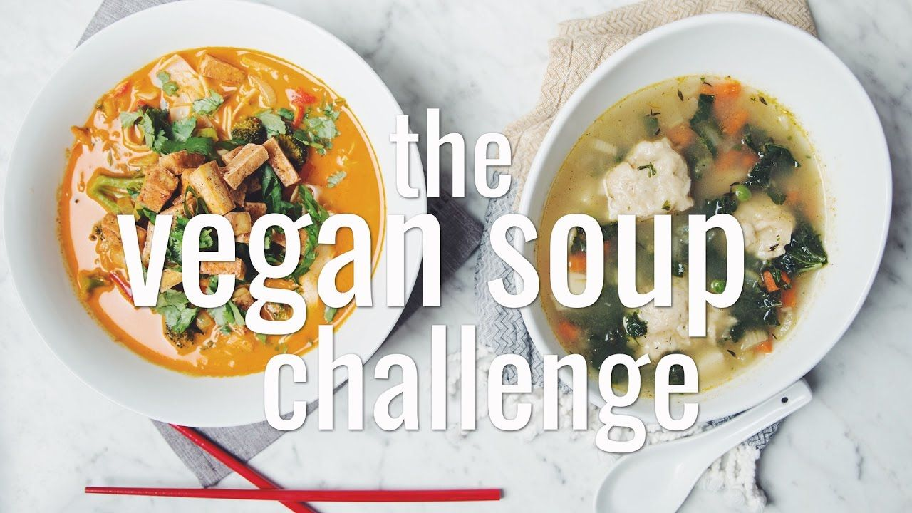 The Vegan Soup Challenge Hot For Food Recipes Easy Golden Curry Noodle Soup And A Vegetable Dumpling Soup Soup Dinner Food Vegan Soup