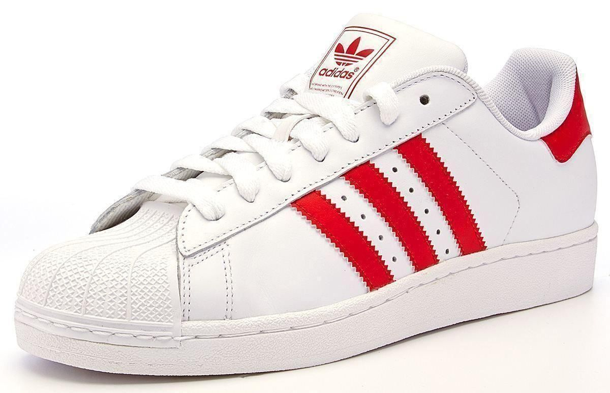 sports shoes ae6b0 1af29 Adidas Superstar II  Red Stripes   Originals  Red