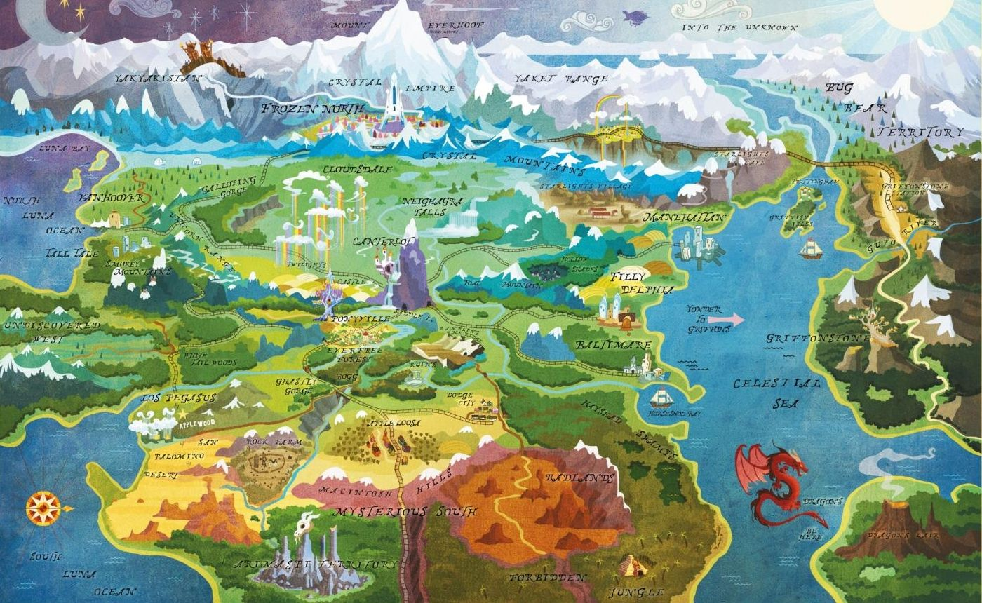 Equestria Daily: Official Map of Equestria Updated