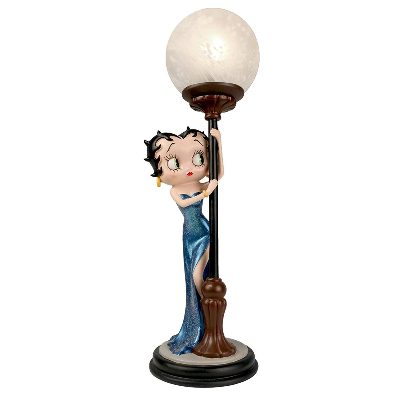 BETTY BOOP HIDE /& SEEK LAMP BLUE GLITTER DRESS COLLECTABLE FIGURINE 48CM