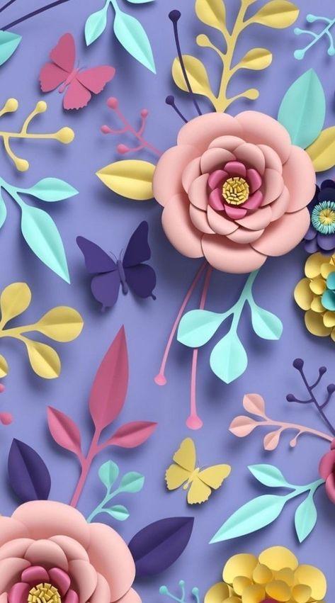 52+ Trendy flowers design pattern diy paper