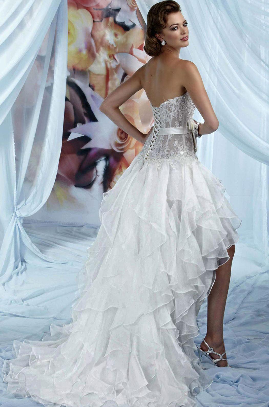 Strapless BustierStyle Wedding Dress