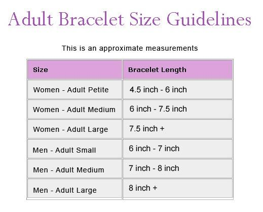 Cuff bracelet size chart google search jewelrymaking