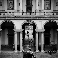 Accademia di Brera. Cortile e facciata interna