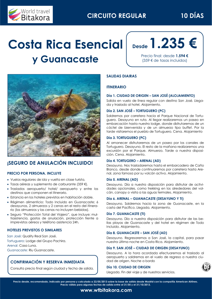 COSTA RICA Esencial y Guanacaste: 10 días, desde 1.235 € + tasas - http://zocotours.com/costa-rica-esencial-y-guanacaste-10-dias-desde-1-235-e-tasas/