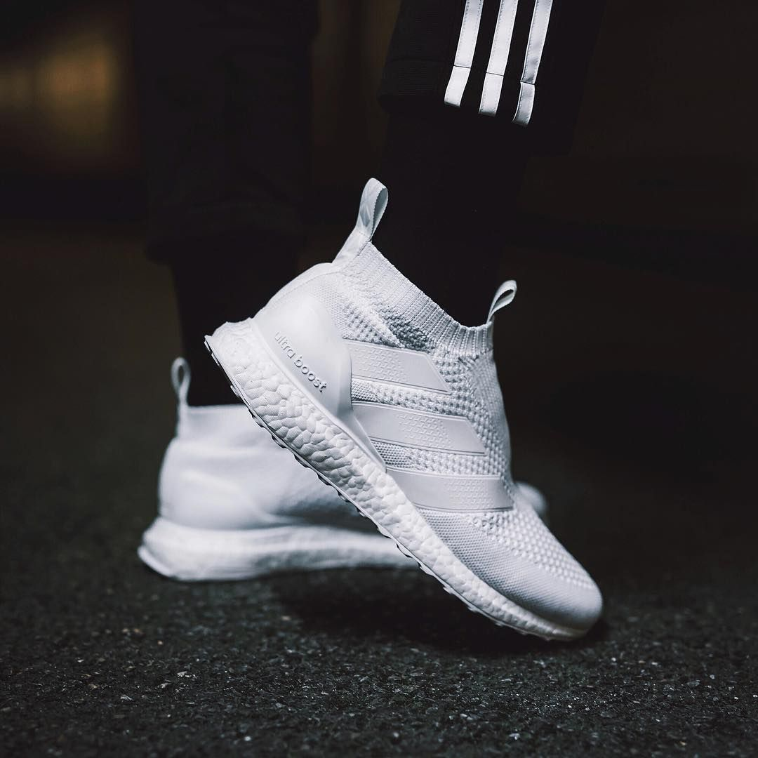 eef4acd382cb4 ACE 16+ PURECONTROL ULTRA BOOST  Triple White  (via soccerbible ...