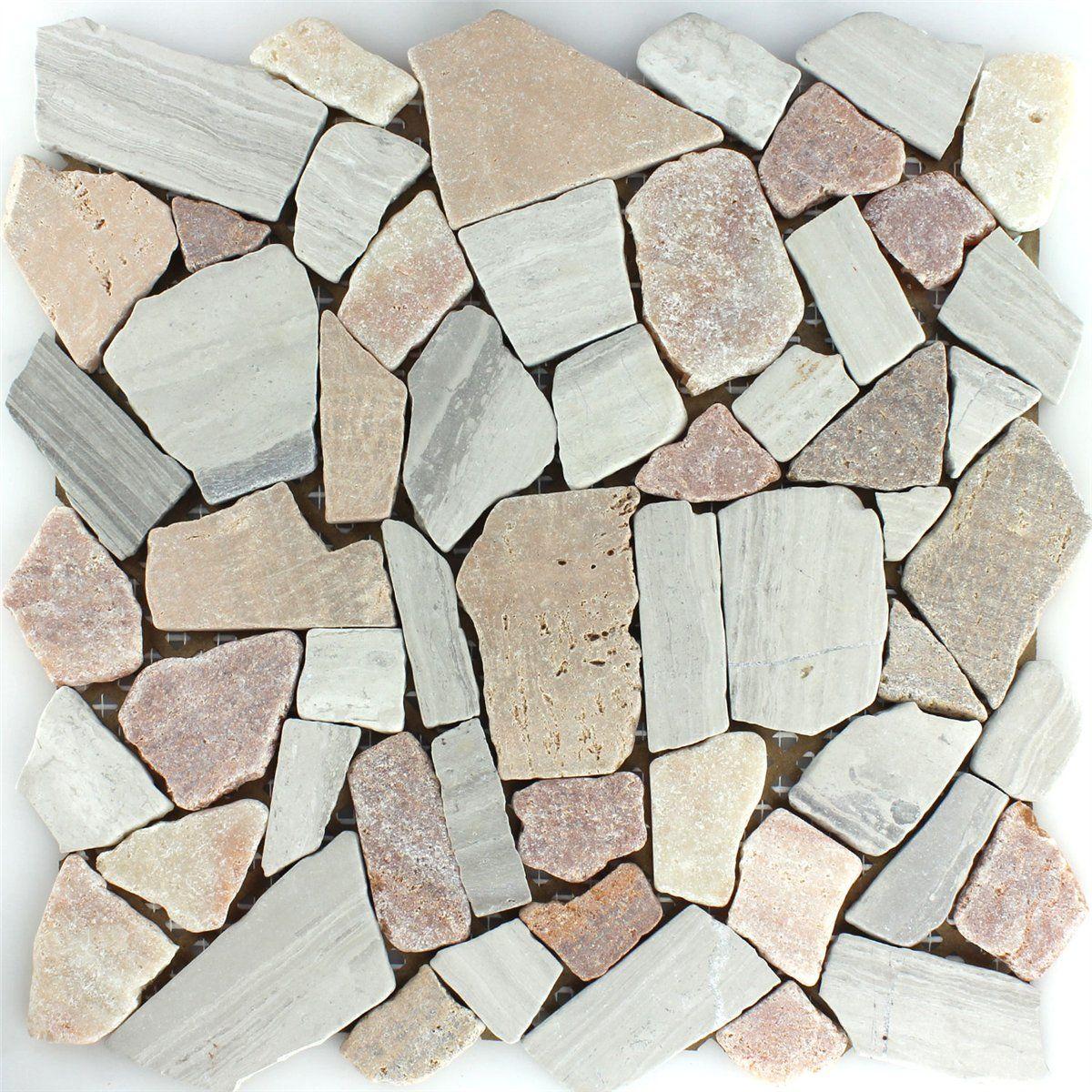 MUSTER Marmor Bruch Mosaik Fliesen Beige