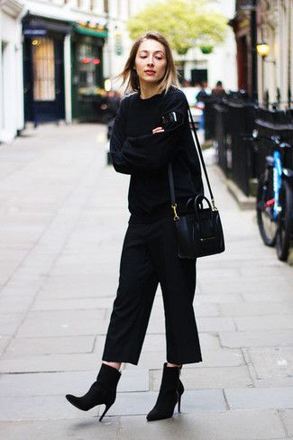 how to wear culottes with boots  google search  schwarze