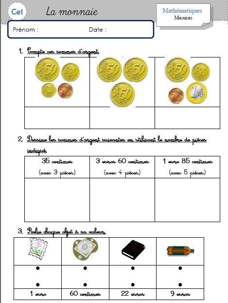 w-FeAocGOz8JhoKRaWX_Yj4l0lQ.jpg (469×622) | La monnaie ce1, Ce1, Rendre la monnaie